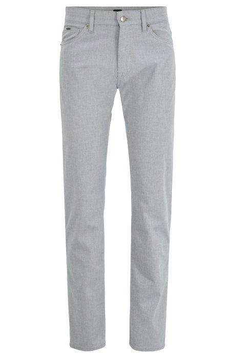 Regular-fit jeans in structured stretch denim, Blue