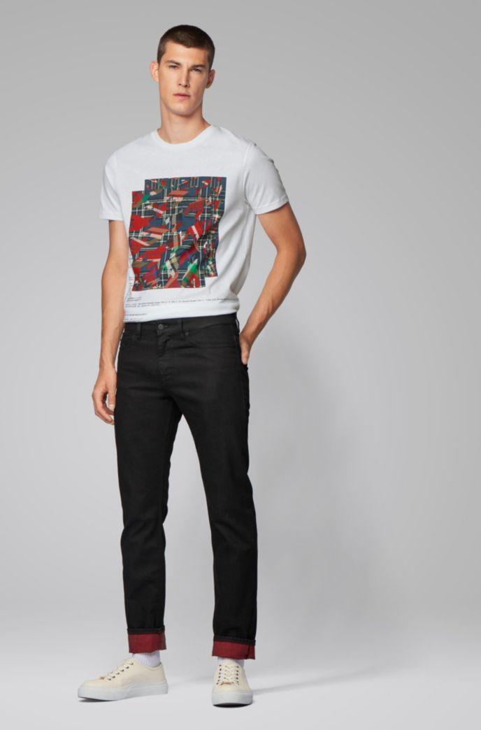 T-Shirt aus Baumwolle mit verschiedenen Algorithmus-Prints