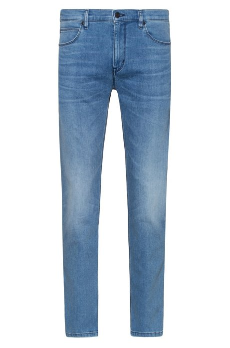 Slim-fit jeans in bright-blue comfort-stretch denim, Blue