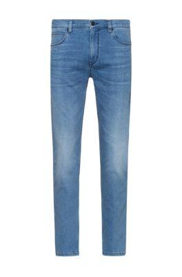 Slim-fit jeans in bright-blue comfort-stretch denim, Blue