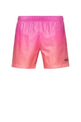 Bañador tipo shorts de secado rápido con estampado degradado, Pink