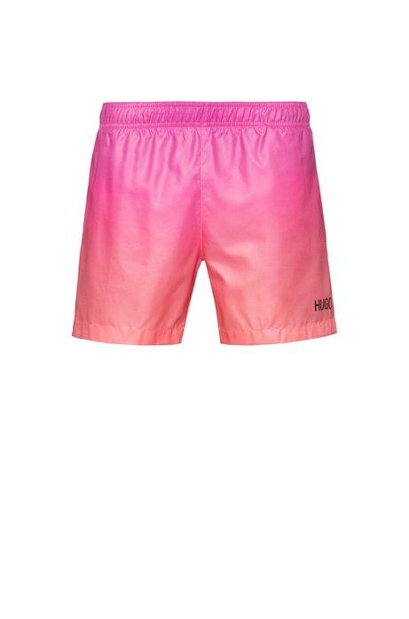 Sneldrogende zwemshort met dégradé print, Pink