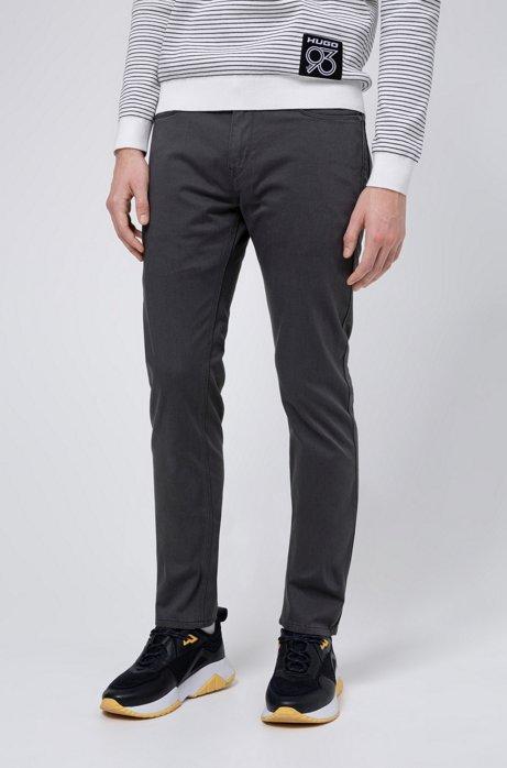 Slim-Fit Jeans aus elastischer Denim-Gabardine, Dunkelgrau