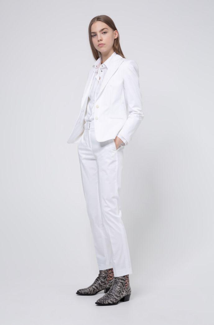 Pantalon Regular Fit en coton stretch avec cordon de serrage à la taille