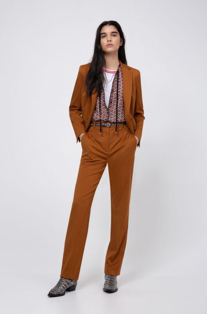 Regular-Fit Hose aus Schurwolle mit Nahtdetails