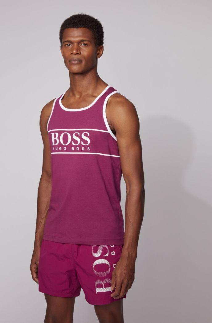 Logo tank top in pure cotton