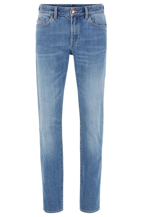 Jean Slim Fit en denim stretch bleu clair, Bleu