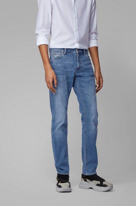 Regular-Fit Jeans aus Stretch-Denim, Blau