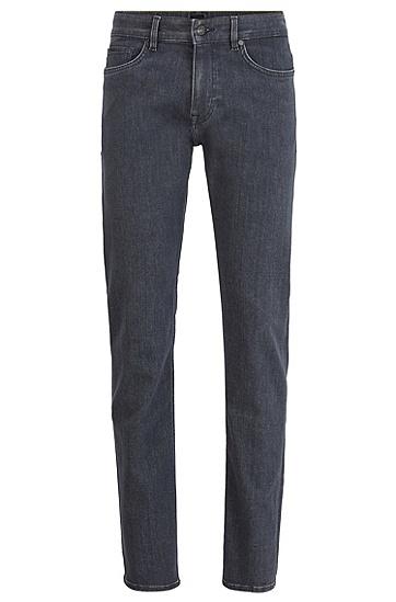 男士灰色质感修身牛仔裤,  030_中灰色