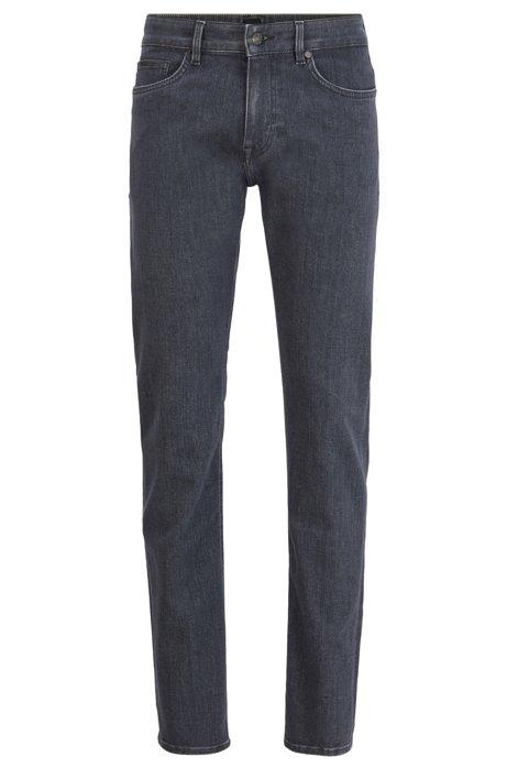 Jeans slim fit in denim grigio effetto cashmere, Grigio