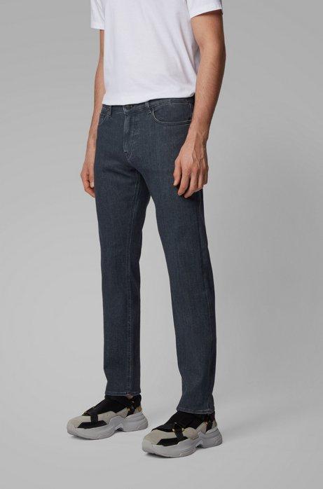 Slim-fit jeans van grijs denim met een kasjmierachtige feel, Grijs