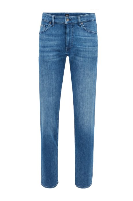 Relaxed-fit jeans in super-soft stretch denim, Blue
