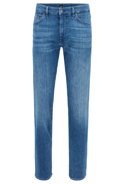 Relaxed-Fit Jeans aus softem Stretch-Denim, Blau