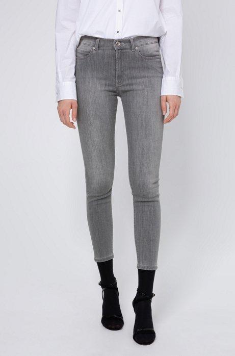 Jean CHARLIE Super Skinny Fit en denim gris argenté, Gris