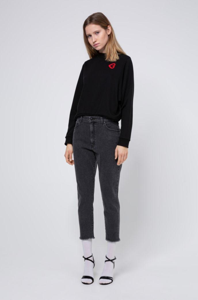Slim-Fit STELLA Jeans mit hohem Bund und unversäuberten Säumen