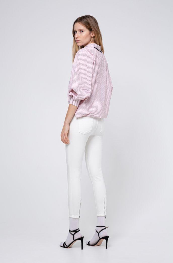 Super Skinny-Fit CHARLIE Jeans in Cropped-Länge mit Reißverschlüssen am Saum