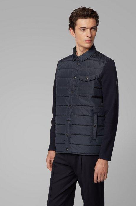 Hybrid-Jacke mit leichter Füllung, Dunkelblau