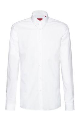 Extra slim-fit overhemd van gemakkelijk te strijken katoen, Wit
