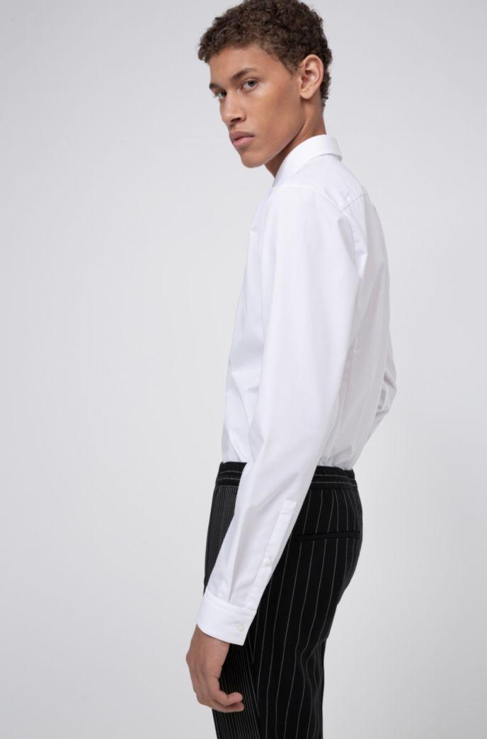 Extra Slim-Fit Hemd aus Baumwoll-Popeline mit bügelleichtem Finish