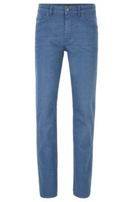 Jeans con fit affusolato in comodo denim elasticizzato celeste, Blu