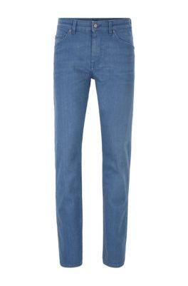 Tapered-Fit Jeans aus komfortablem Stretch-Denim, Blau