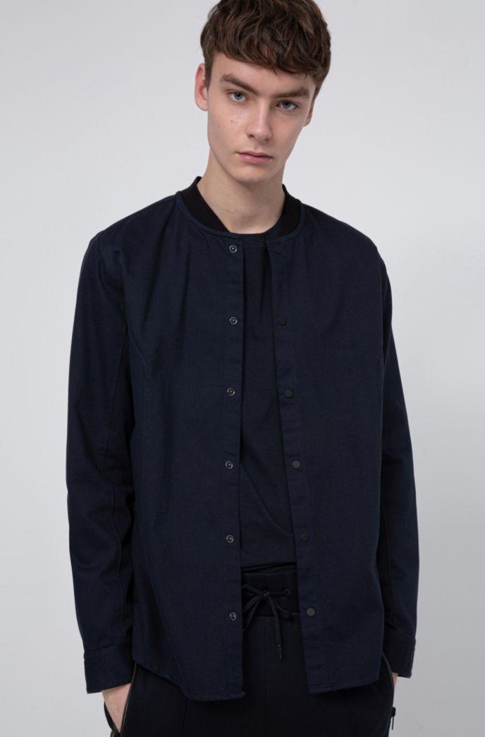 Relaxed-Fit Overshirt aus Baumwoll-Twill mit Druckknöpfen