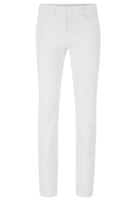 Slim-fit jeans van superzacht, wit denim, Wit