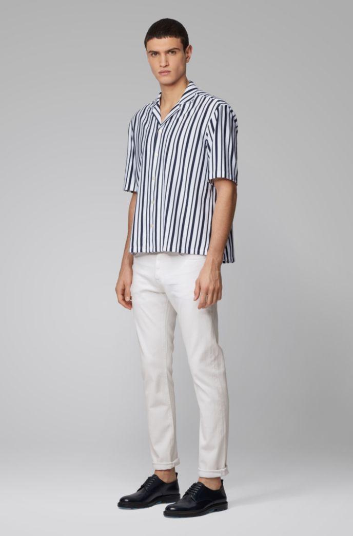 Jeans slim fit in morbidissimo denim bianco