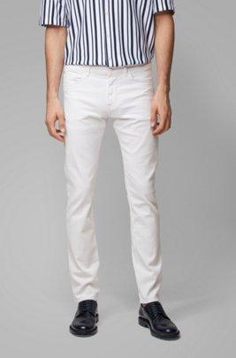 Jeans slim fit in morbidissimo denim bianco, Bianco