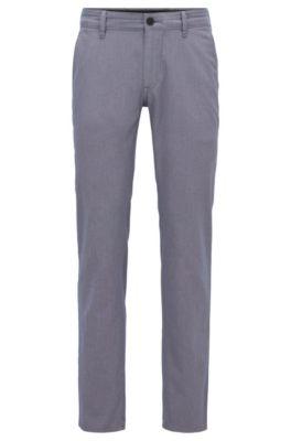 Slim-Fit Hose aus zweifarbiger Stretch-Baumwolle, Grau