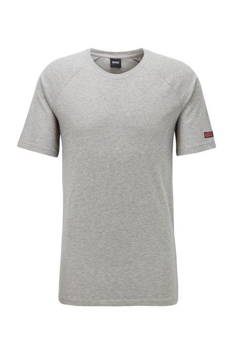 Slim-fit underwear T-shirt in een piqué van stretchkatoen , Grijs