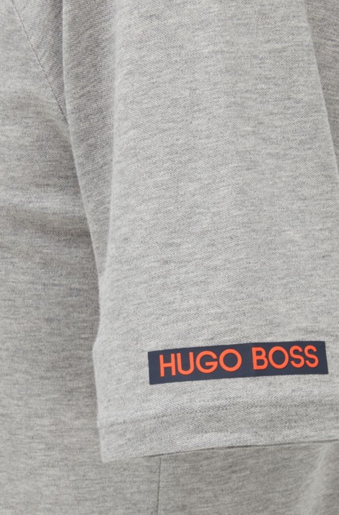 T-Shirt aus elastischem Baumwoll-Piqué