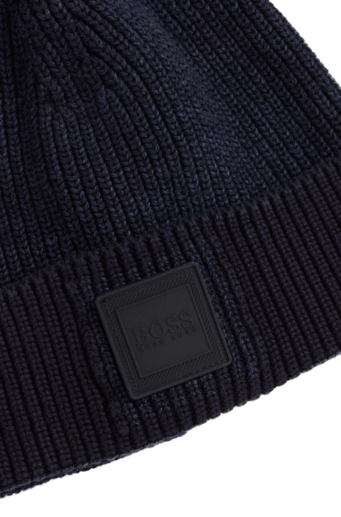 Mütze aus Baumwolle und Leinen mit Logo