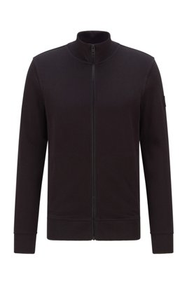 Jersey-Jacke aus afrikanischer Baumwolle, Schwarz