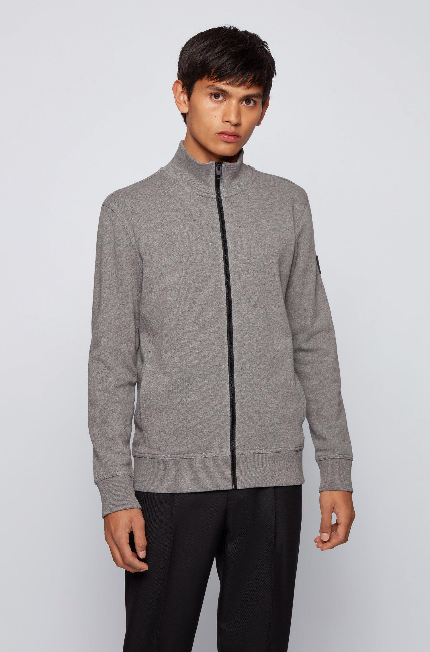 Jersey-Jacke aus afrikanischer Baumwolle, Hellgrau