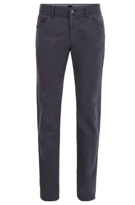Regular-fit jeans in satin-touch stretch denim, Dark Blue