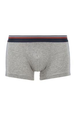 Boxershorts aus Stretch-Baumwolle mit Modal und Logo-Tape, Grau