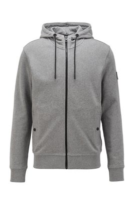 Relaxed-fit hooded sweatshirt in cotton terry, Light Grey