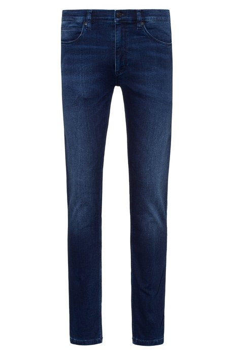 Skinny-fit jeans in dark-blue jersey denim, Dark Blue