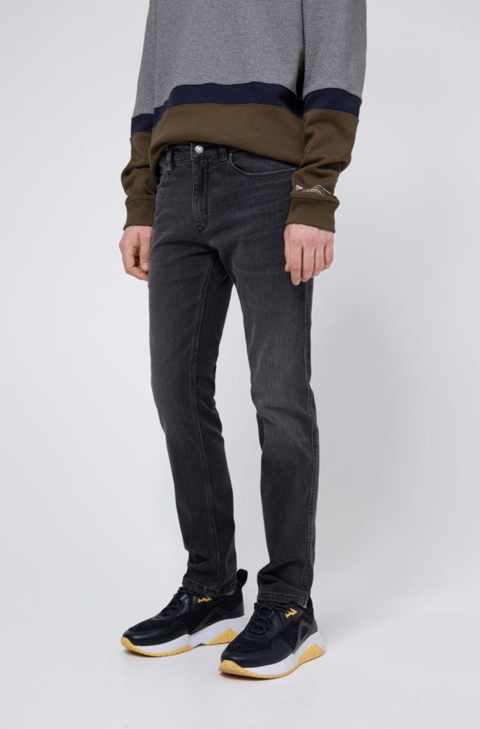 Slim-Fit Jeans aus gelasertem Stretch-Denim