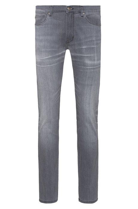 Skinny-Fit Jeans aus bequemem Stretch-Denim, Grau