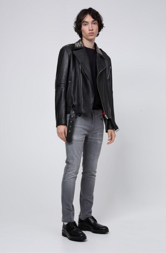 Jean Skinny Fit en denim stretch confortable gris moyen