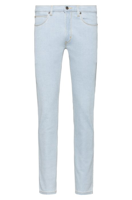 Skinny-fit jeans in light-blue stretch denim, Light Blue