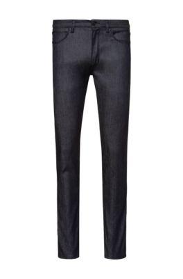 Skinny-fit jeans van donkerblauw denim, Donkerblauw