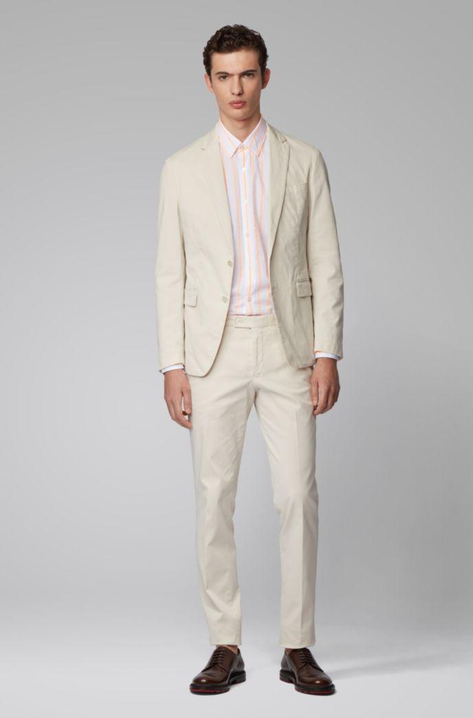 Regular-Fit Hemd aus Baumwolle mit leuchtenden Streifen