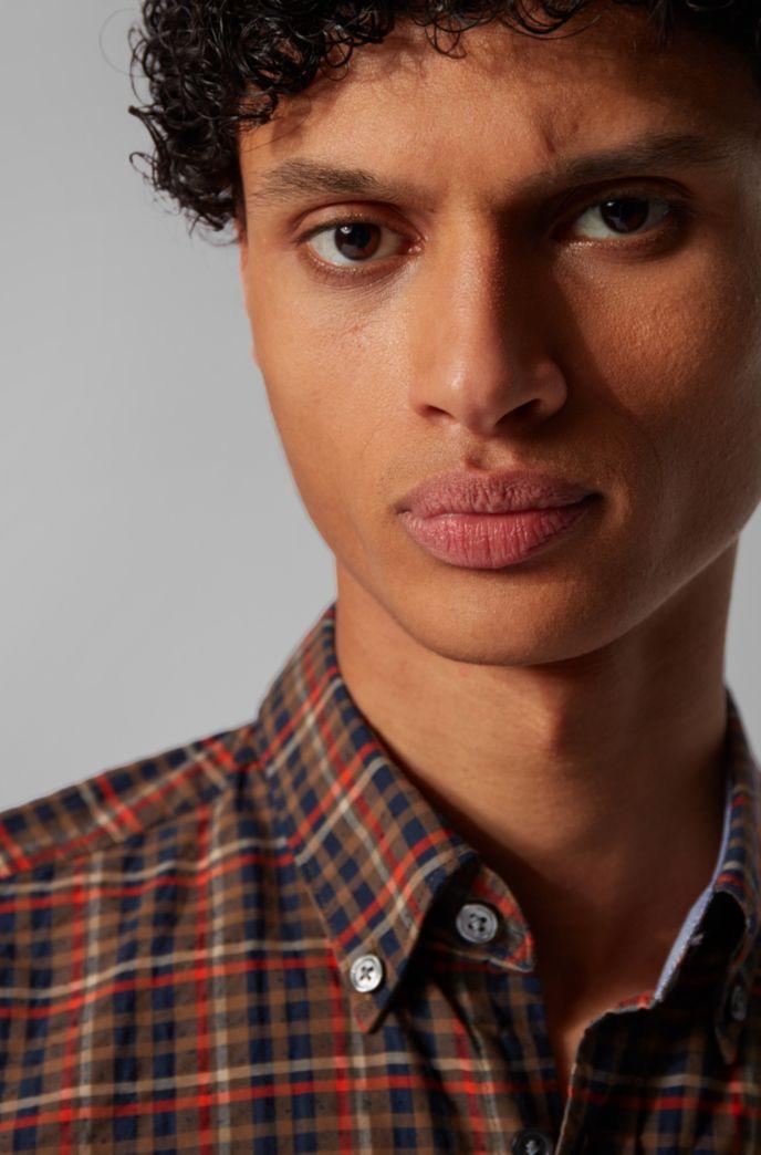 Chemise Slim Fit à carreaux en coton Oxford