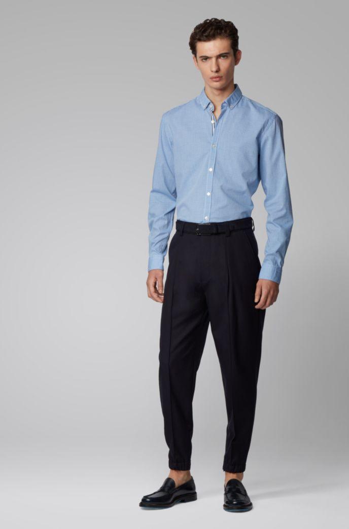 Slim-Fit Hemd mit strukturiertem Vichy-Karo