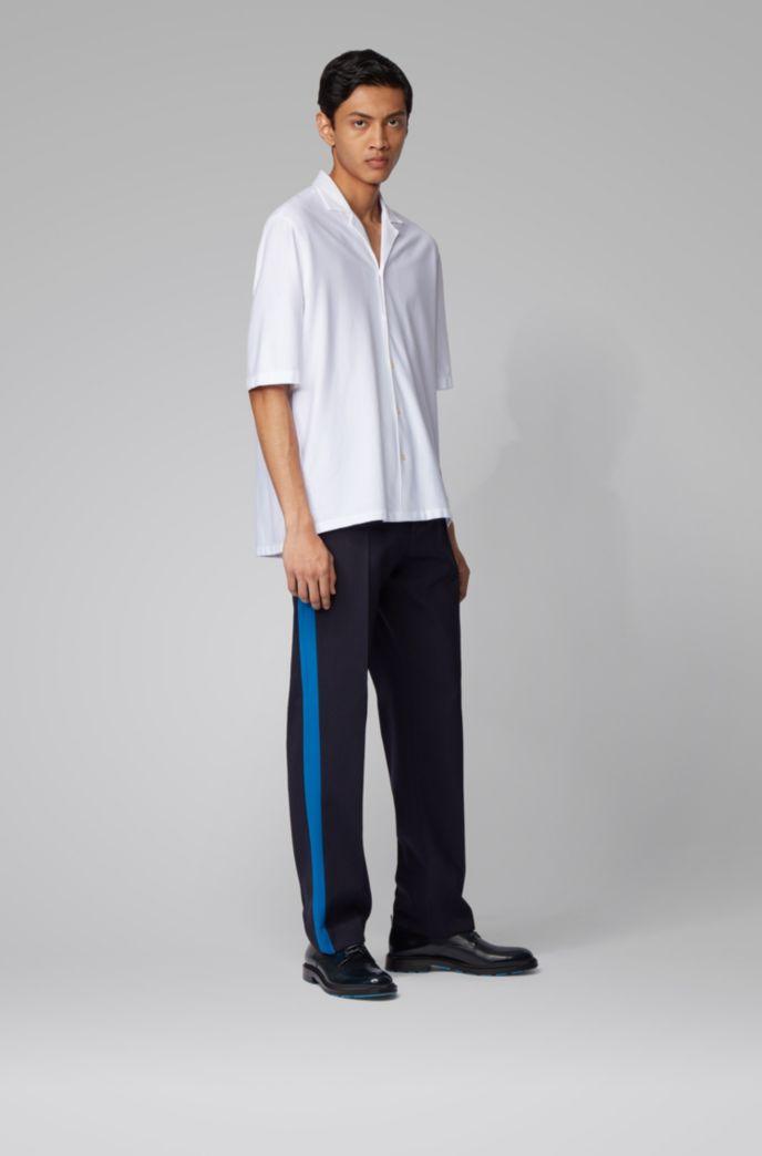Regular-fit overhemd van katoen met een campkraag