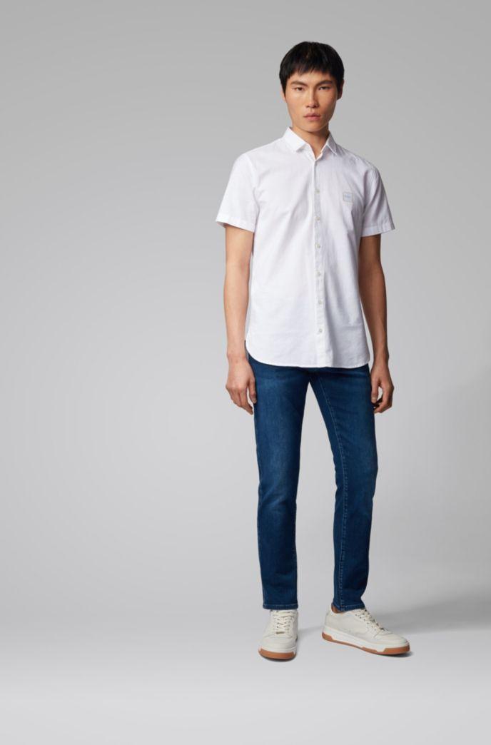 Skinny-fit jeans van donkerblauw super-stretchdenim