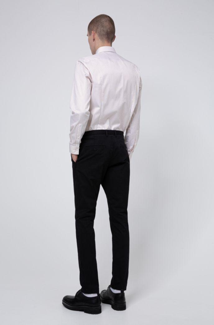 Slim-fit broek in een gabardine van oververfde stretchkatoen